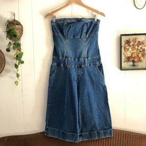 Vintage Strapless Denim Jumpsuit